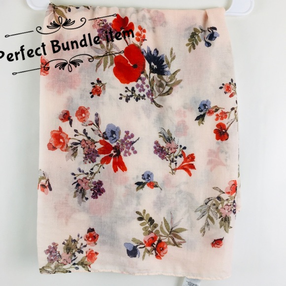 H & M Floral Infinity Scarf
